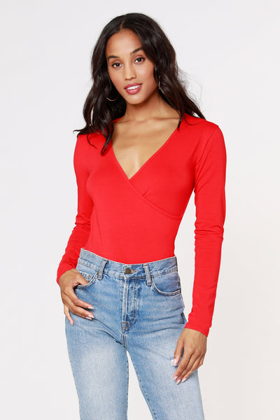 SURPLICE BODYSUIT