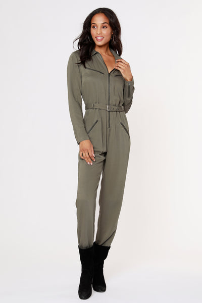 Zip-Up Flight Jumpsuit