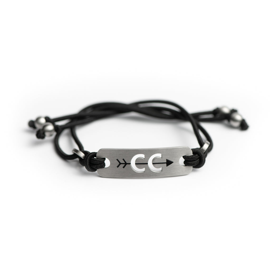 Cross Country Running Bracelet - Adjustable Pink or Black Stretch