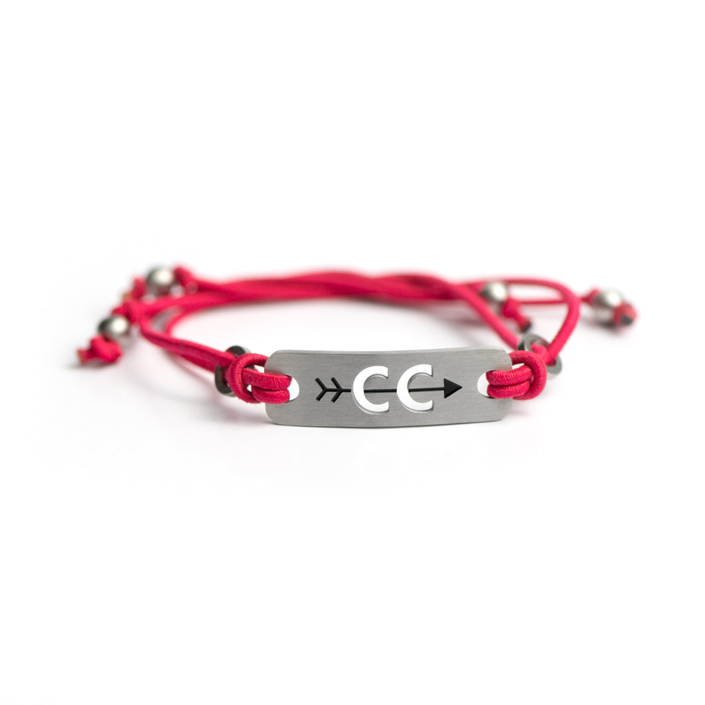 Cross Country Running Bracelet - Adjustable Black or Pink Stretch