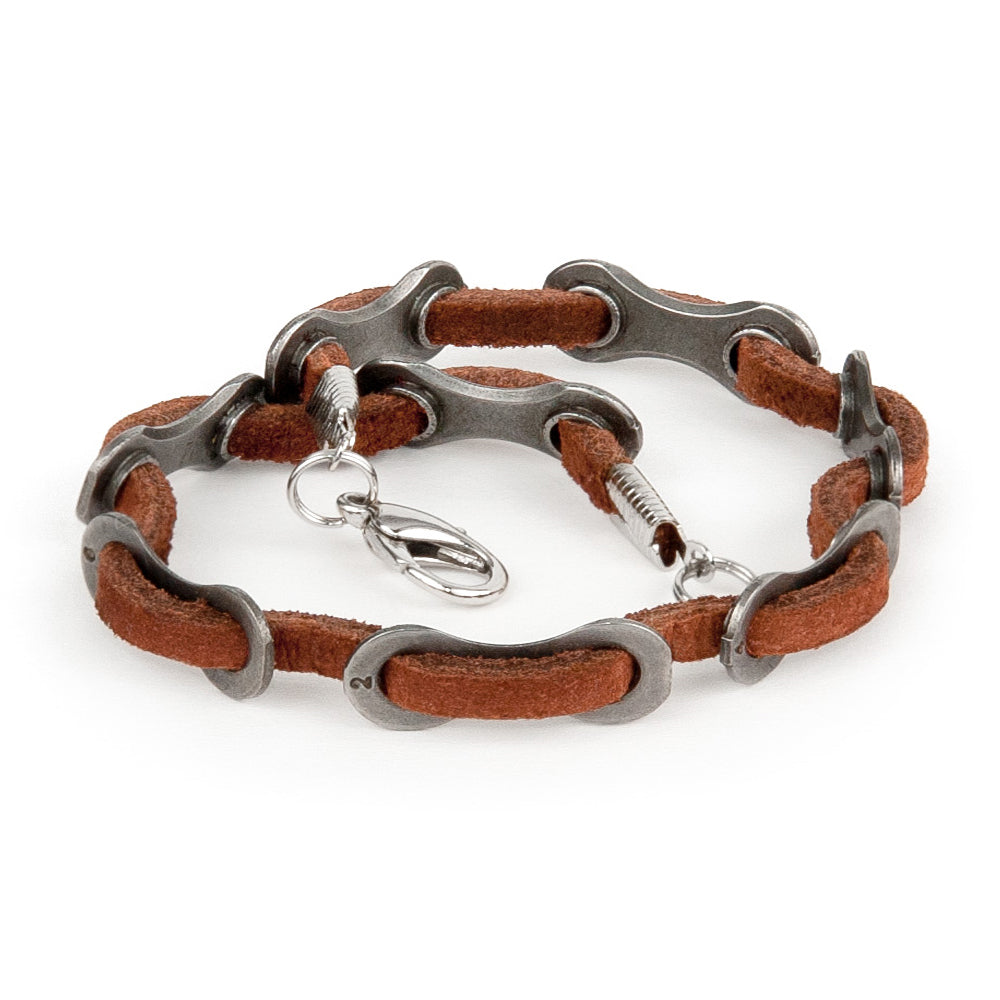 Cyclist Leather Bracelet
