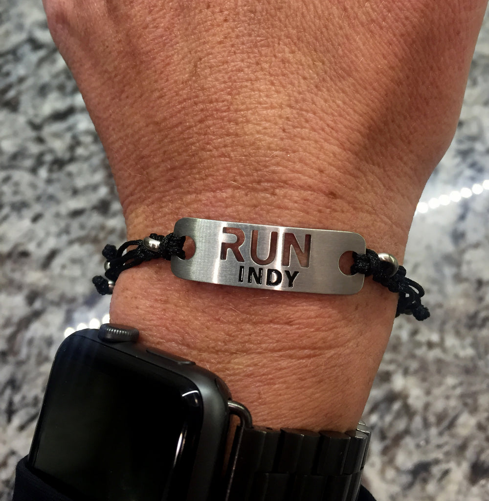 RUN INDY Running Bracelet - ATHLETE INSPIRED running jewelry, running chicago