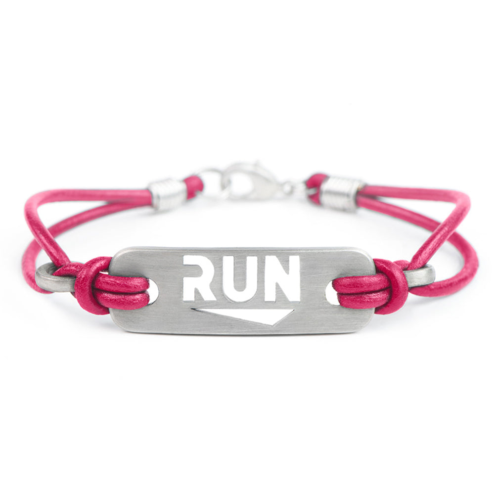 RUN Running Bracelet - ATHLETE INSPIRED leather running jewelry, run necklace
