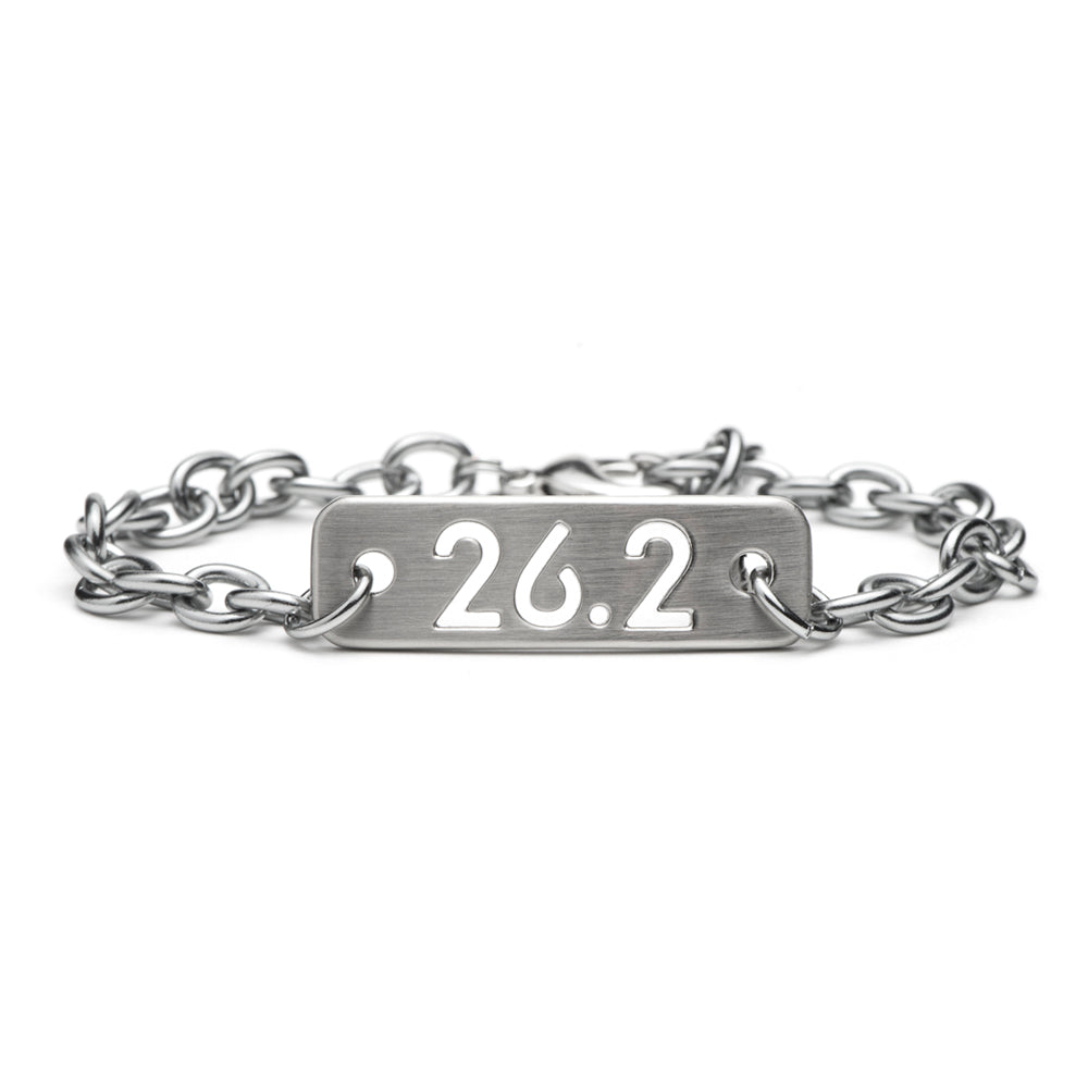 26.2 Marathon Running Chain Bracelet - ATHLETE INSPIRED running jewelry