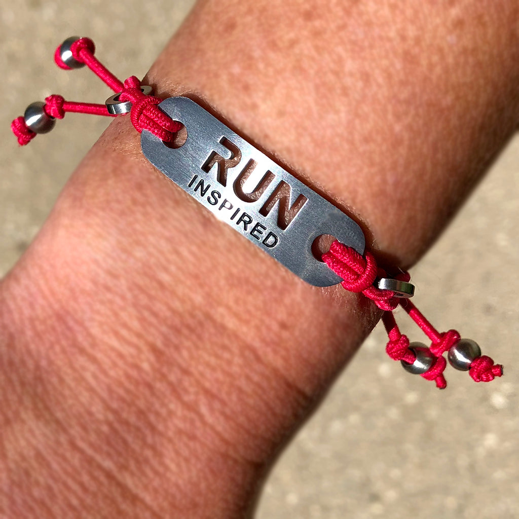 RUN INSPIRED Adjustable Stretch Bracelet - ATHLETE INSPIRED - running bracelet, running jewelry