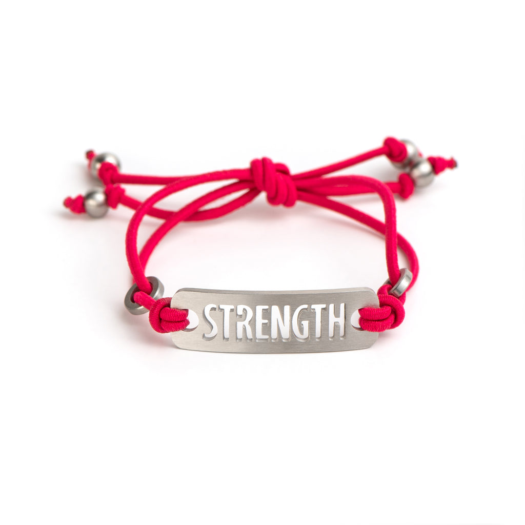 Inspirational Bracelet Adjustable Stretch - Available in Black or Pink