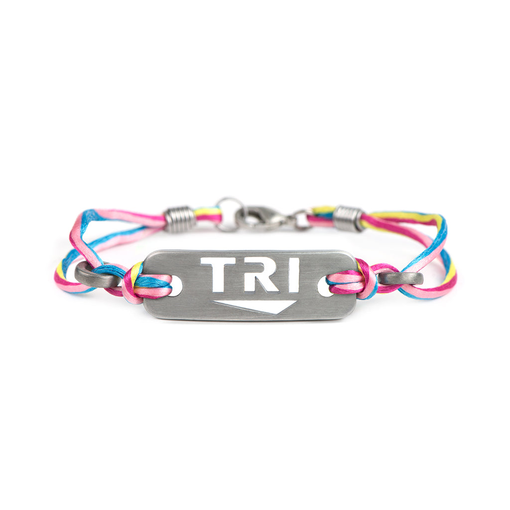 TRI triathlon bracelet - ATHLETE INSPIRED - triathlon jewelry, tri jewelry