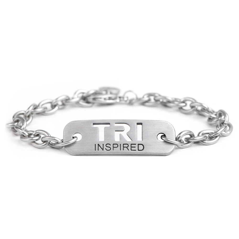 TRI INSPIRED Chain Bracelet - ATHLETE INSPIRED - Triathlon Bracelet, Triathlon Jewelry