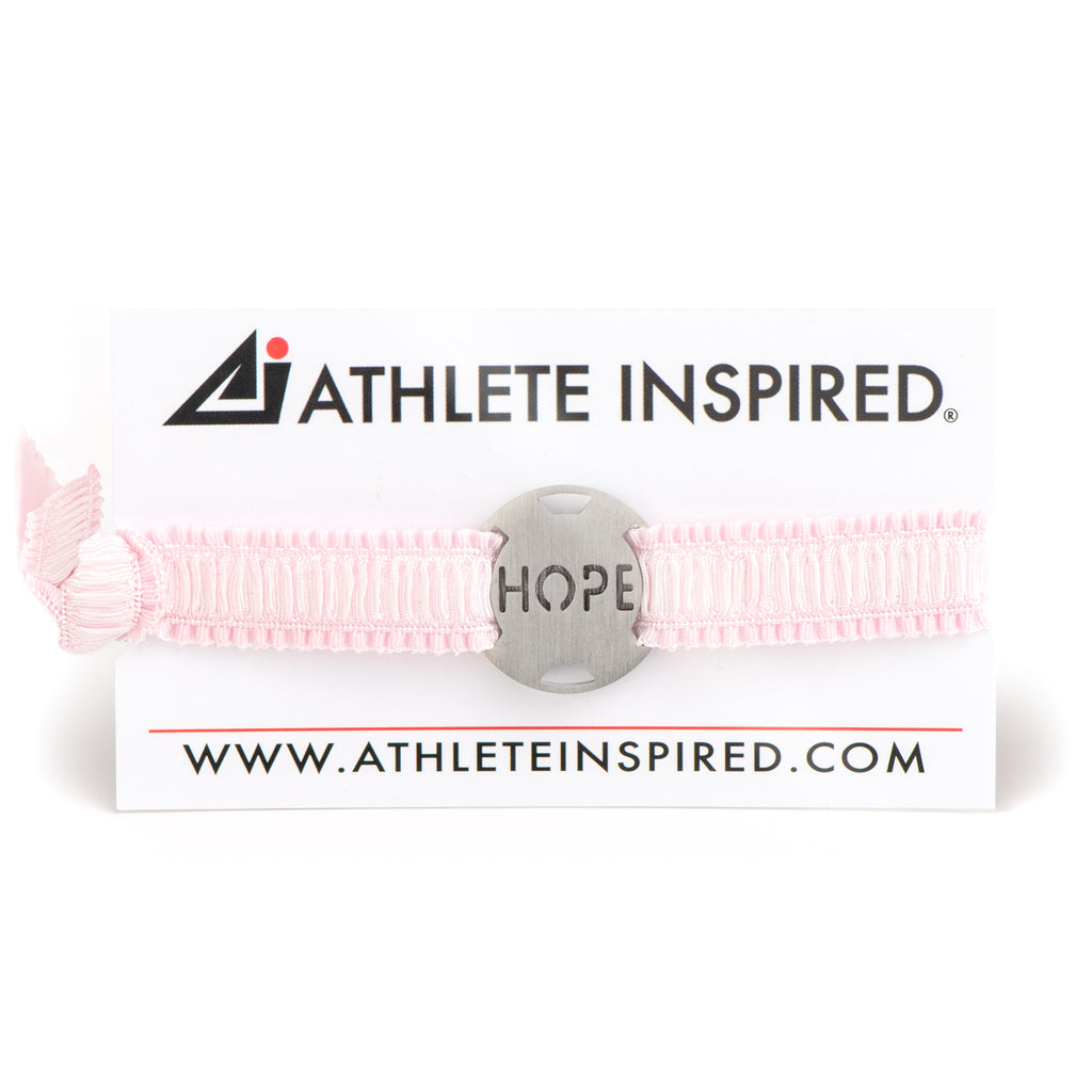 HOPE - Pink Ribbon Stretchy Bracelet - Breast Cancer Awareness-Survivor