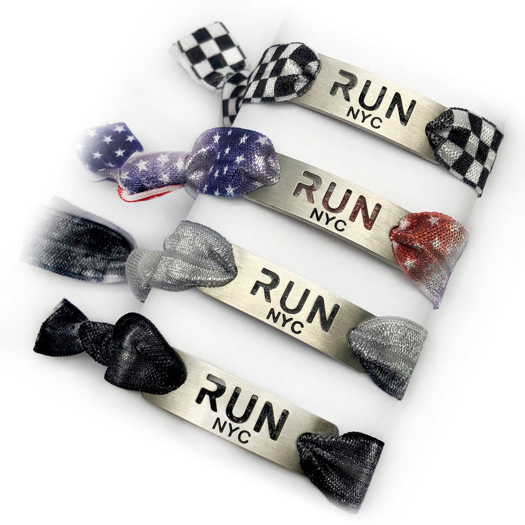 RUN NYC - New York City Tie Stretchy Running Bracelet