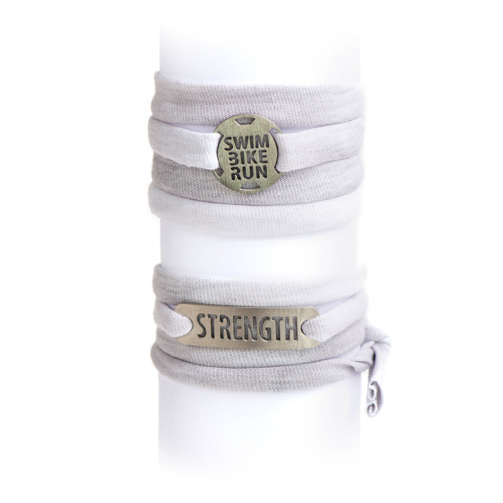Jersey Wrap Bracelet - Light Gray Marble Tie Dye