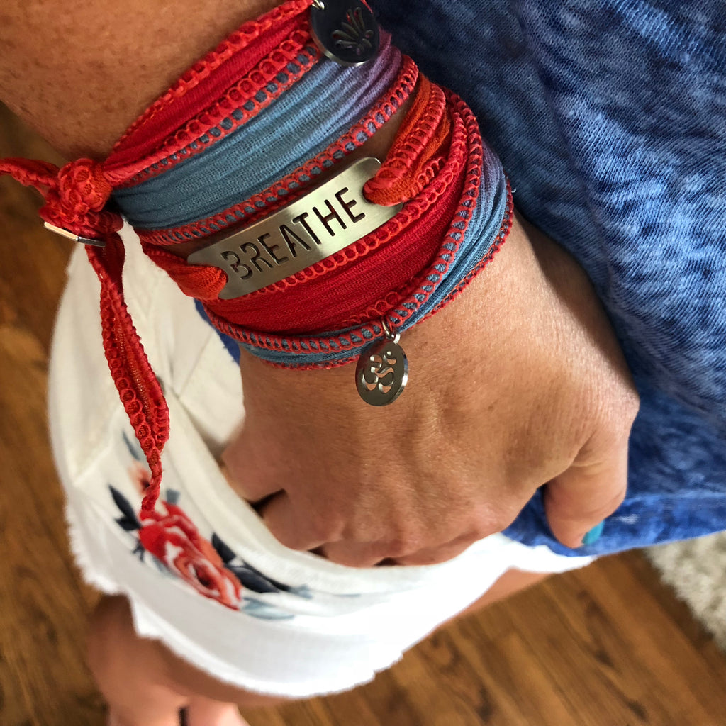 BREATHE Blended Wrap Button Bracelet
