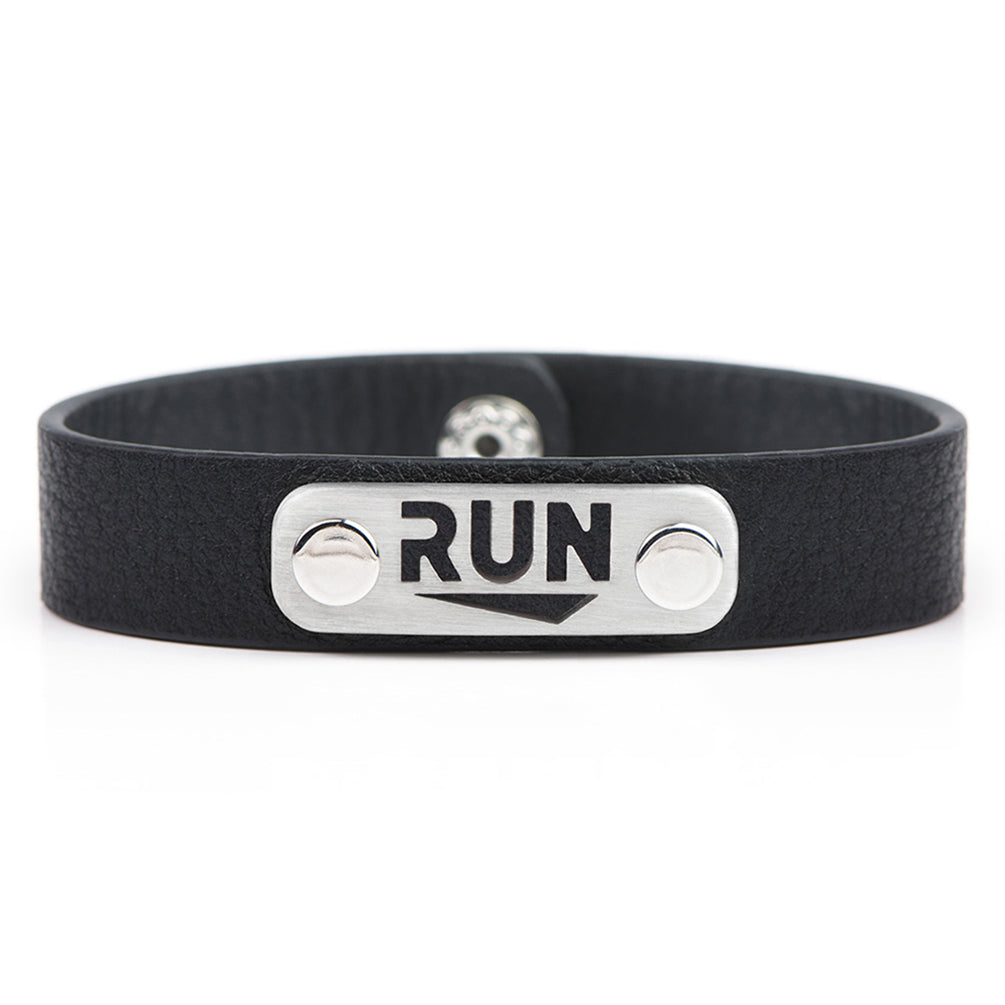 RUN Running Bracelet Wristband - ATHLETE INSPIRED Running jewelry, run bracelet, run gift