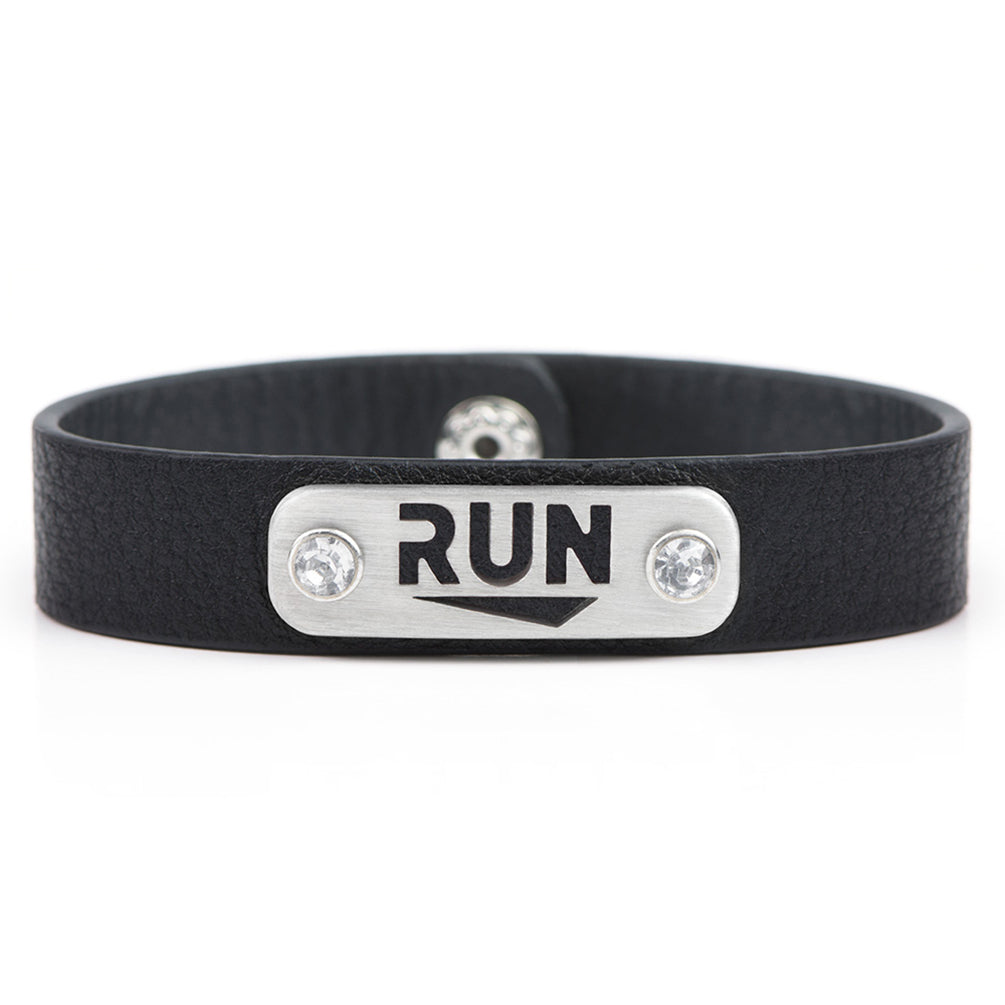 RUN w/Bling Running Bracelet Wristband - ATHLETE INSPIRED - Running jewelry