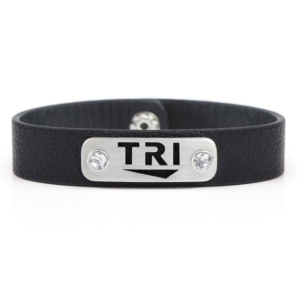 TRI triathlon bracelet wristband - ATHLETE INSPIRED - triathlon jewelry, tri jewelry