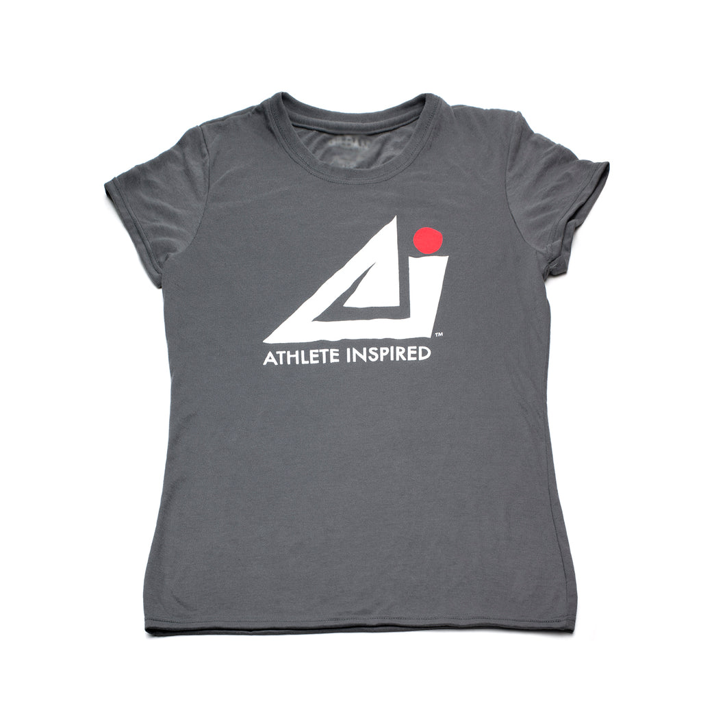ATHLETE INSPIRED Gray T-Shirt - Women