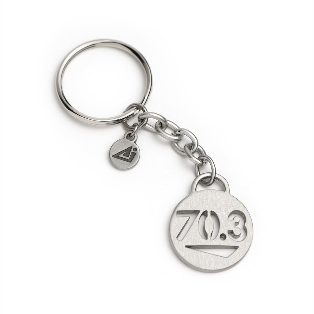70.3 Half Iron Triathlon Keychain