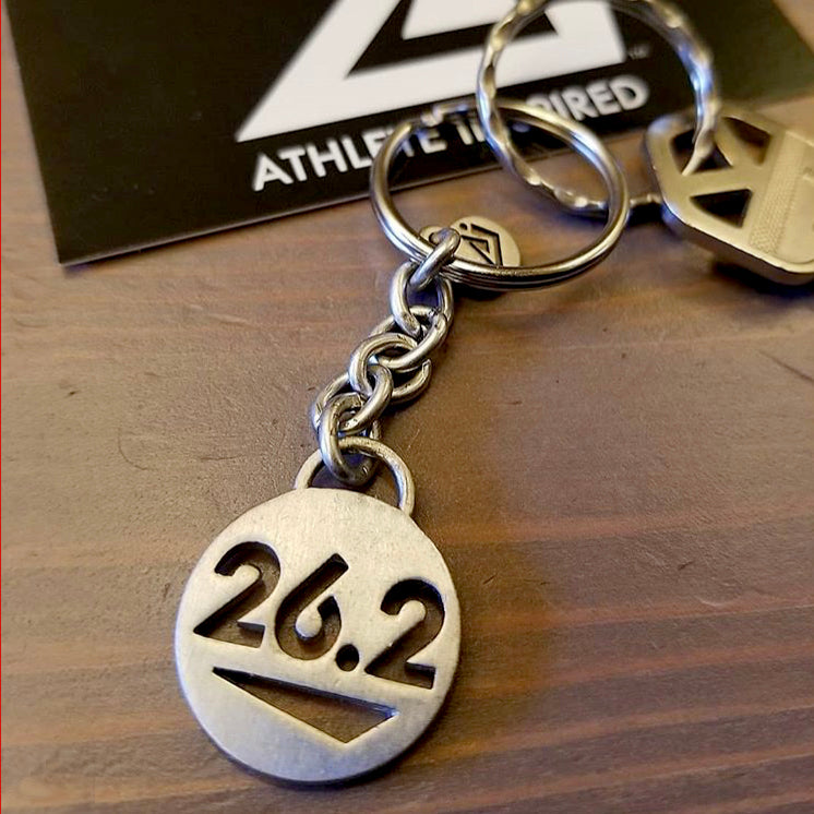 ATHLETE INSPIRED 26.2 Marathon Keychain