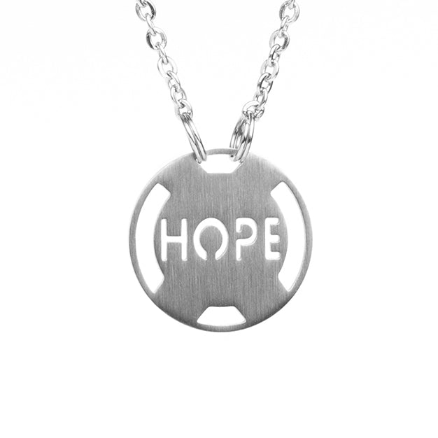 Inspirational Necklace Athlete Inspired, Motivational stainless steel jewelry, Live, Inspire, Hope Dream