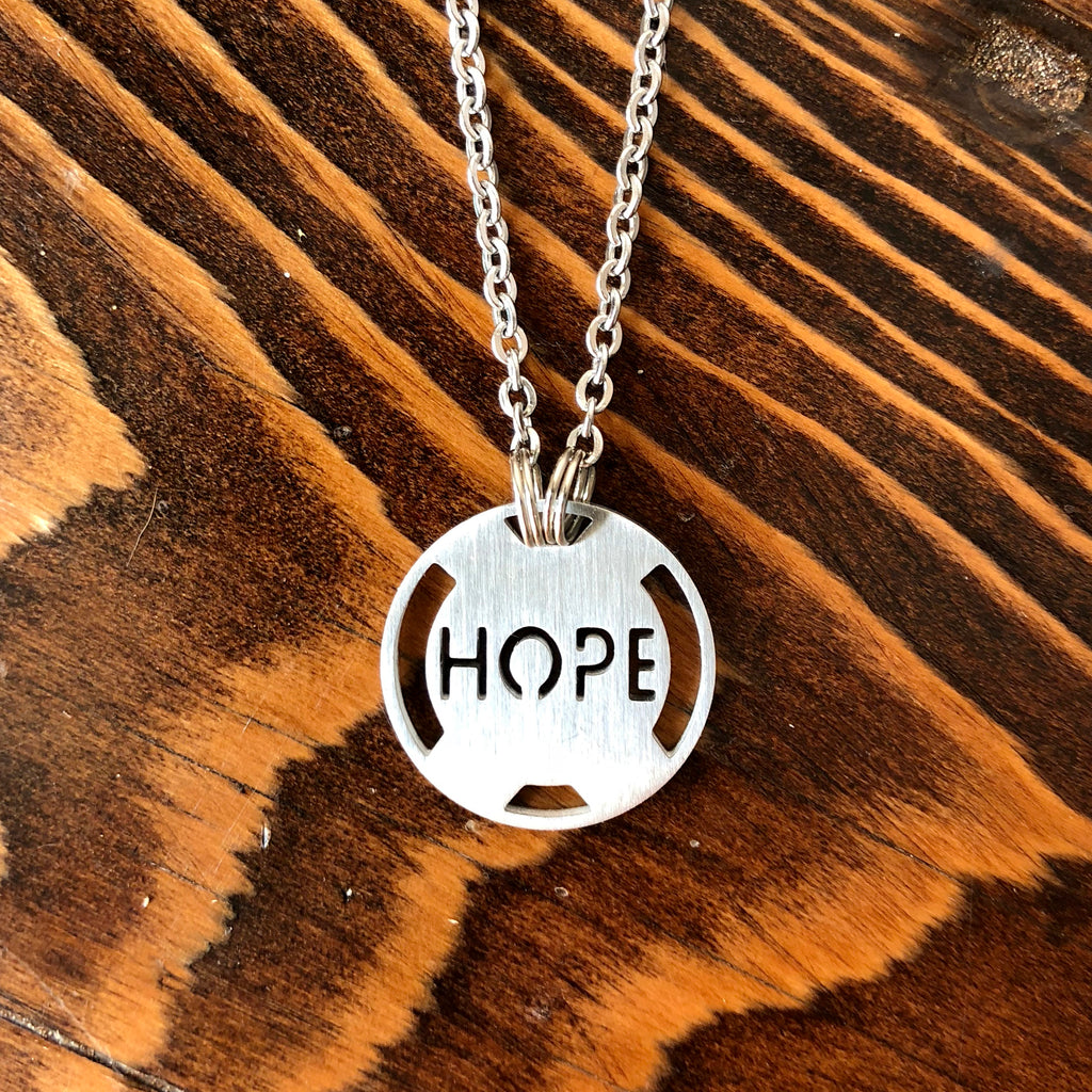 Hope Stainless Steel Inspirational Necklace - ATHLETE INSPIRED Inspirational Jewelry