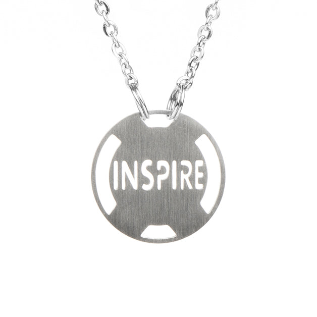 INSPIRE Stainless Steel Inspirational Necklace - ATHLETE INSPIRED Inspirational Jewelry