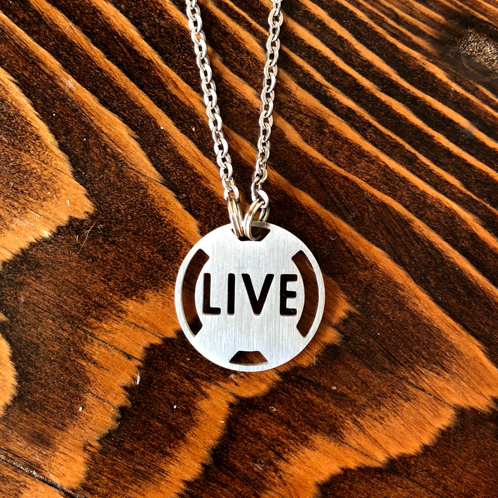 LIVE Stainless Steel Inspirational Necklace - ATHLETE INSPIRED Inspirational Jewelry
