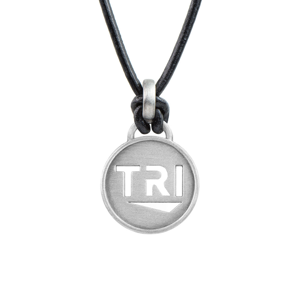 TRI Pendant Triathlon Necklace - ATHLETE INSPIRED triathlon jewelry, TRI necklace, TRI jewelry, Ironman Necklace, Ironmnan necklace