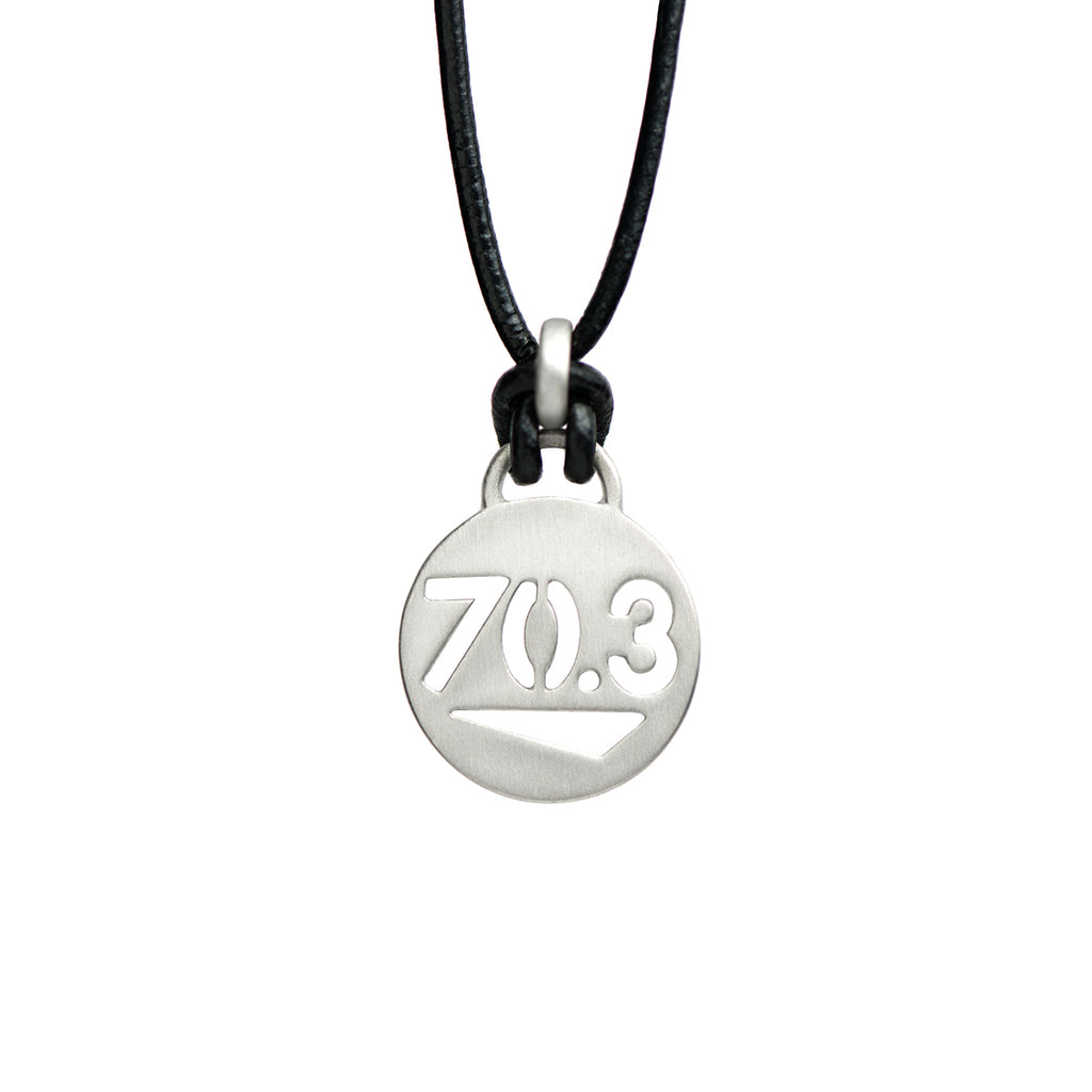 70.3 Half Ironman Triathlon Necklace - ATHLETE INSPIRED - Triathlon Jewelry