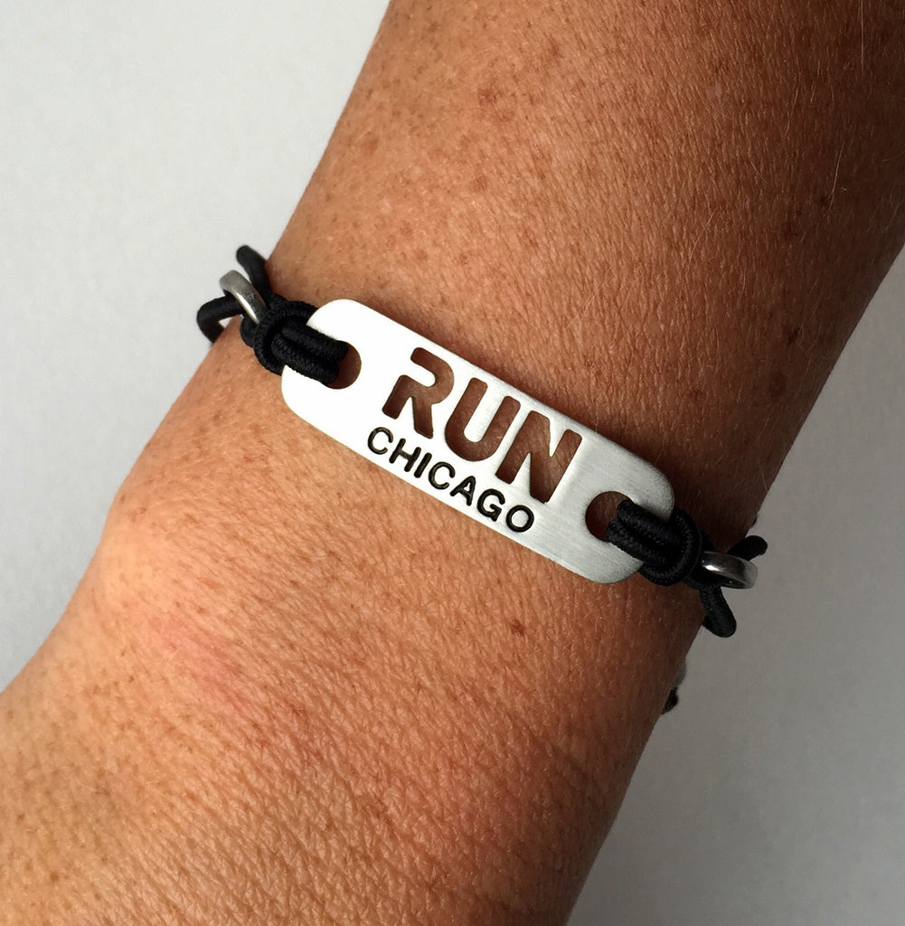 RUN CHICAGO Running Bracelet - Tie Stretch Adjustable