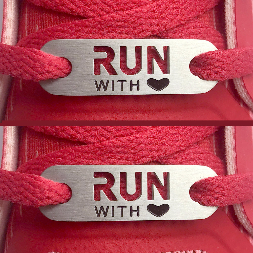 RUN with HEART Shoe Tag - 2 pack