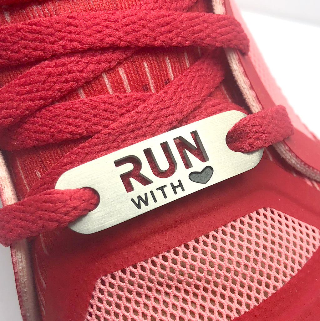 RUN with HEART Shoe Tag - ATHLETE INSPIRED