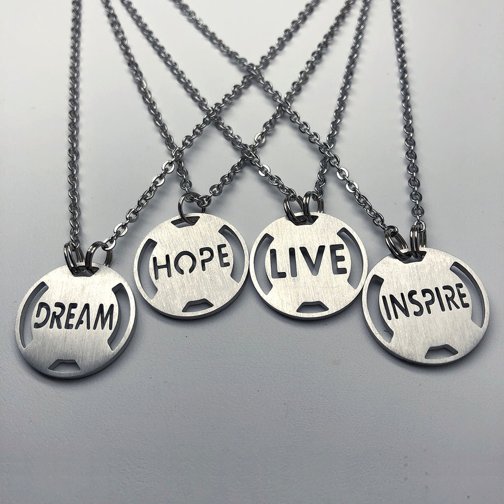 Dream Stainless Steel Inspirational Necklace - ATHLETE INSPIRED Inspirational Jewelry