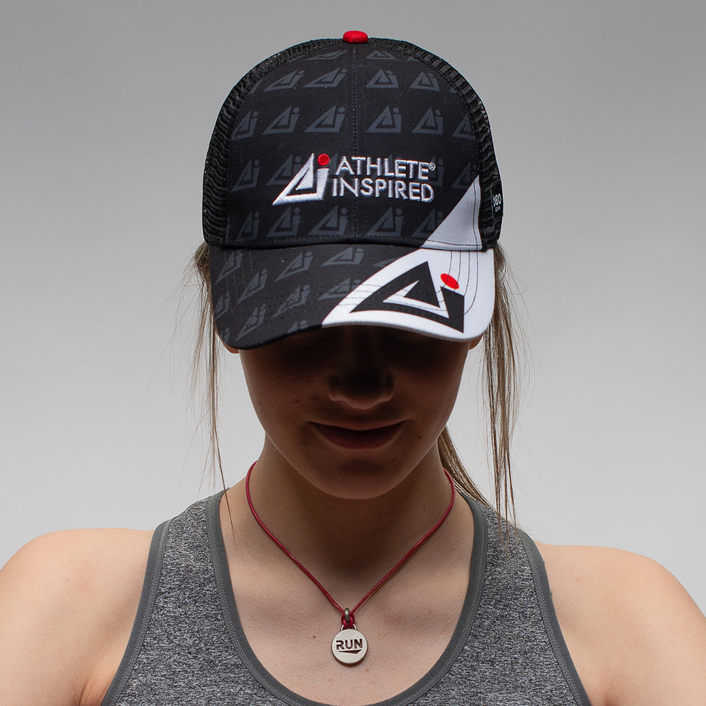 ATHLETE INSPIRED Sport Technical Trucker Hat-Adjustable