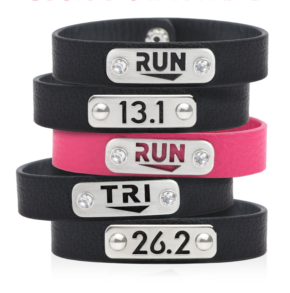 26.2 Marathon Running Bracelet Wristband - ATHLETE INSPIRED running jewelry