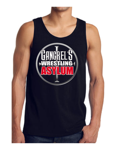 Official Gangrel's Wrestling Asylum Logo Unisex Tank Top 100% Cotton