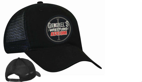 Official Gangrel's Wrestling Asylum Embroidered Trucker Hat