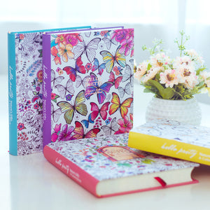Cute Korean Floral Personal Journal Dairy For Girls