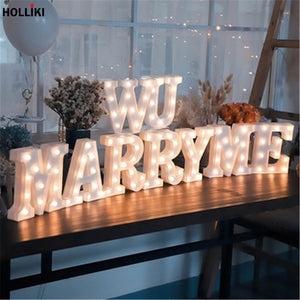 3D LED Alphabet Night Lights Battery Powered For Conveying your feelings. - Happy Peaks