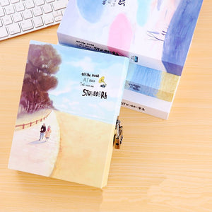 Korean Creative Stationery Diary with Lock Notebook - Happy Peaks