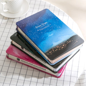 Korean Metal Cover Notebook Personal Diary - Happy Peaks