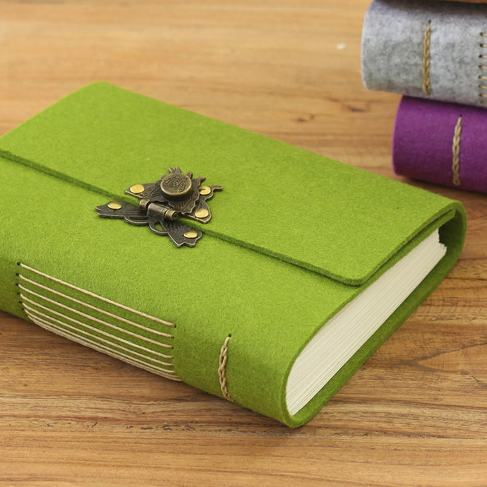 Vintage Handmade Fabric Personal Diary Travel Journal