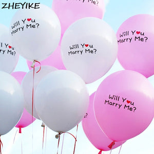 12 Inch Balloons Wedding Printed Kiss Me/I Love You - Happy Peaks