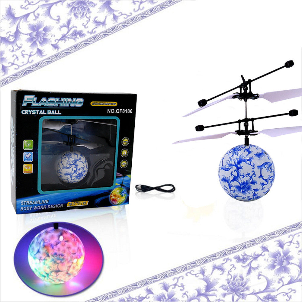 RC Flying Ball Drone Helicopter Ball with Built-in Shinning LED Lighting for Kids - Happy Peaks