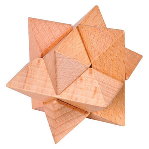 Wooden Octagon Logic Puzzle