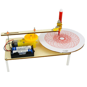 Creative DIY Puzzle for creating Graffiti through Electric Plotter.
