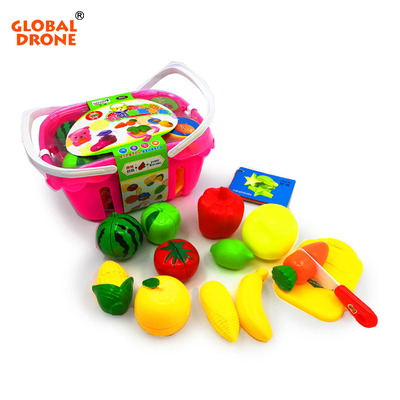 14pcs Fruit Vegetable Cutting Pretend Play For Child - Happy Peaks