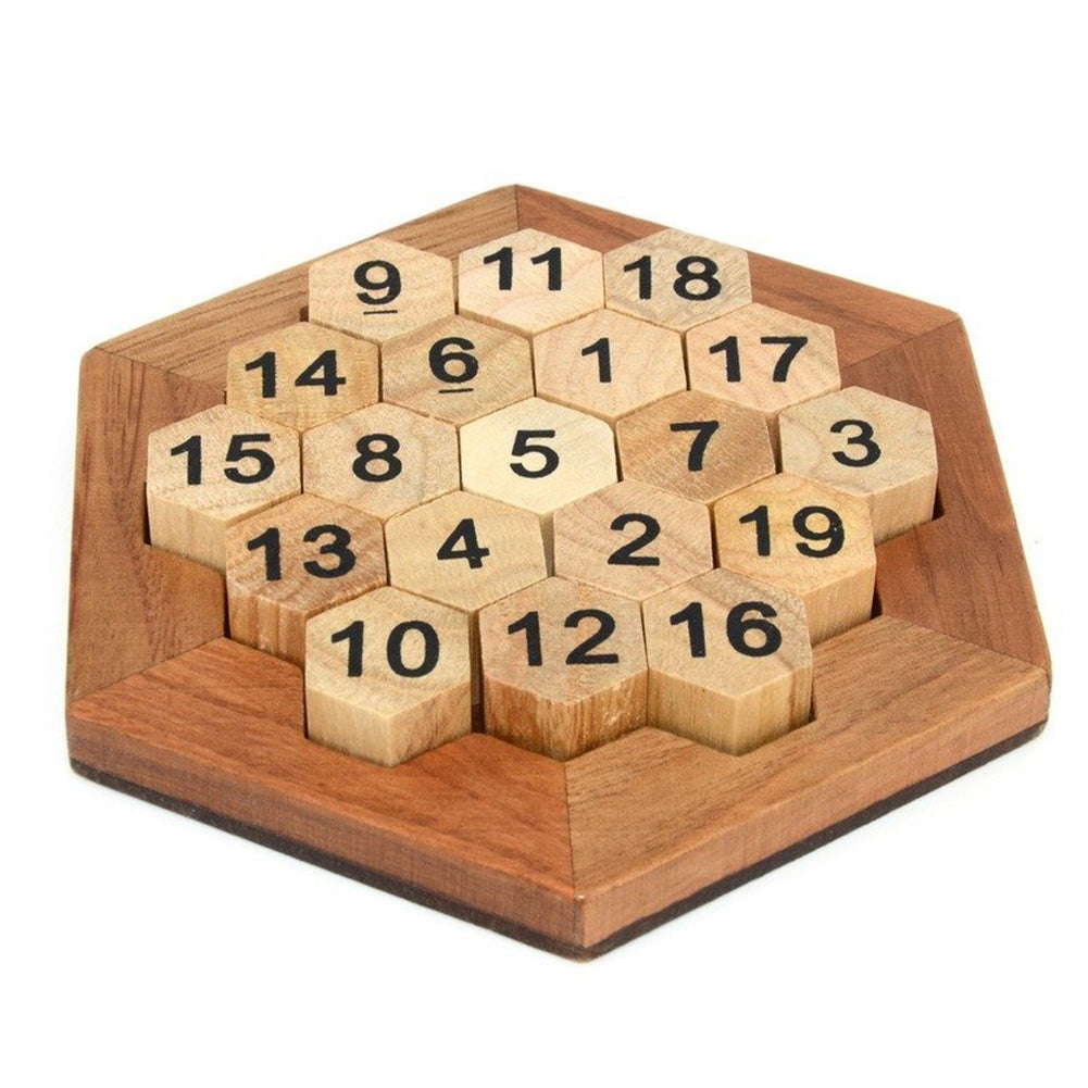 Wooden Logic Puzzle Brain Teasers - Happy Peaks