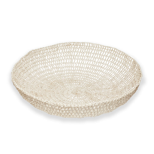 Hand Crochet Cotton and Resin Bowl