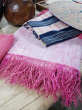 Baby Pink Handwoven Mini Lumbar Cushion