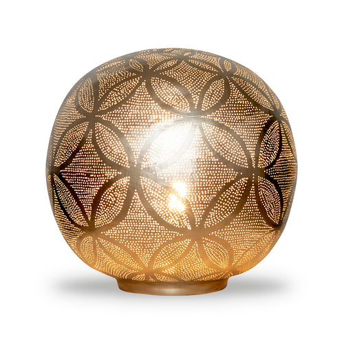 Table Lamp Ball Circles XL Nickel - BALXLCIRTL